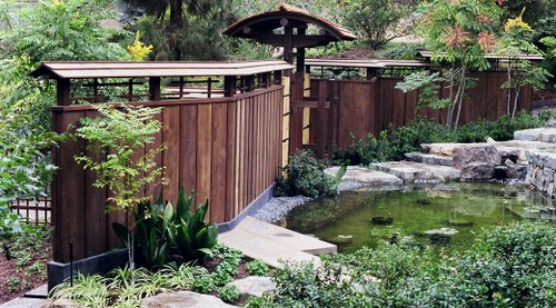 Japanese Roofed Fence Plans 1