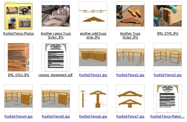 Japanese Roofed Fence Plans 3