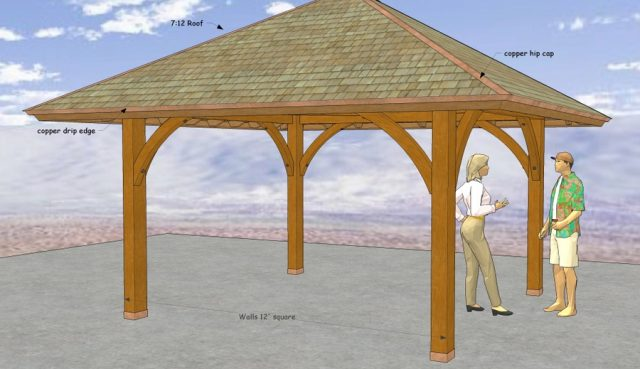 12' x 12' Straight Roof Pavilion