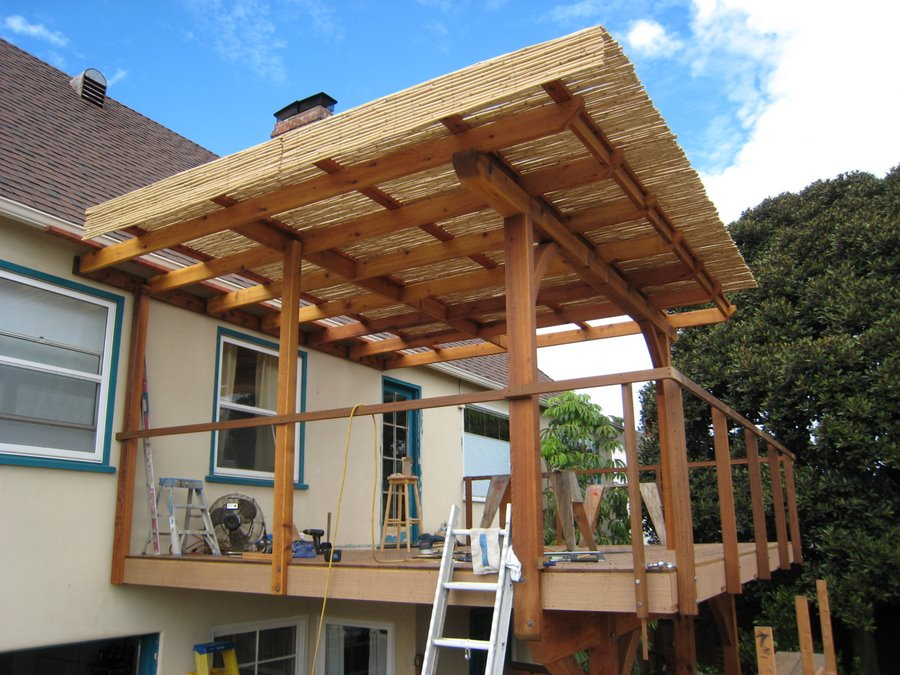 Custom Ipe deck during final phase of construction