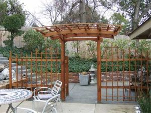 Curved Arbor Entry
