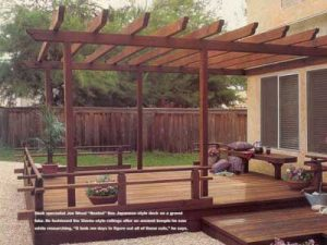 Deck with Low, Japanese Style Railing
