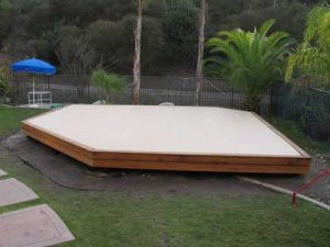 Backyard outdoor dojo for martial arts training and practice