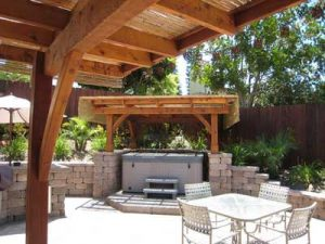Shade Cover Over Spa Hot Tub Jacuzzi