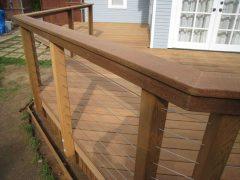 Custom wood deck railing