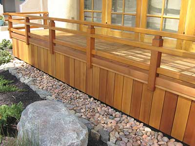 Japanese style deck and railing